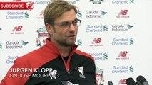 Jurgen Klopp feels an affinity towards Jose Mourinho: He's an emotional guy
