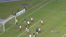 Uhhh! Em cobrança de falta, Eduardo Ramos quase abre o placar para o Remo contra o Botafogo-SP