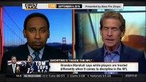 ESPN First Take | (9 - 9 - 2015) Brandon Marshall cites race as factor in Tom Bradys susp