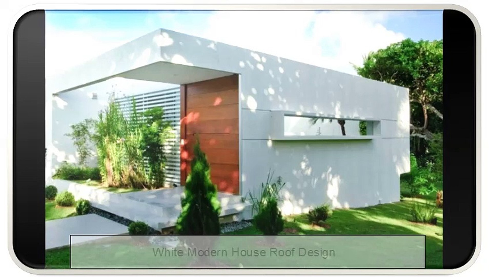 White Modern House Roof Design Video Dailymotion