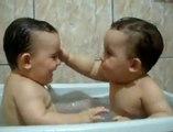 Twins Brothers Enjoying Bath Time Twins Brothers Enjoying Bath Time too fuuny
