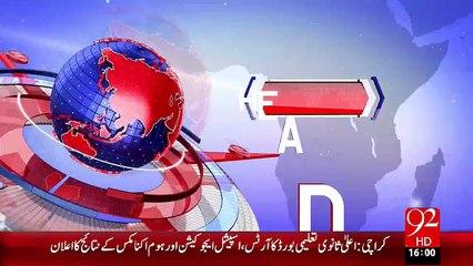 Headlines - 04:00 PM – 02 Nov 15 - 92 News HD