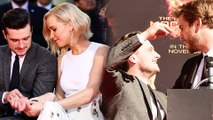 Josh Hutcherson With Jennifer Lawrence, Liam Hemsworth at Hunger Games Hand And Footprint Ceremony