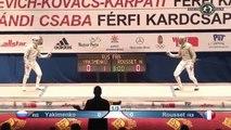 CdM sabre hommes Budapest 2015 - 1/2 finale Rousset (FRA) vs Yakimenko (RUS)