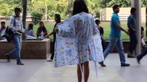 Indian girl goes topless on street Shocking Video