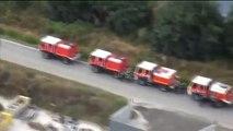 incendie en Gironde: Images aériennes