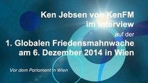 Ken Jebsen von KenFM im Interview auf der 1. Globalen Friedensmahnwache in Wien