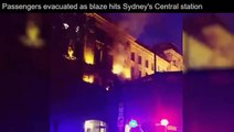 Fire at Sydney Central Station in Hungry Jacks restaurant Hungry Jacks Fire Sydney Austra