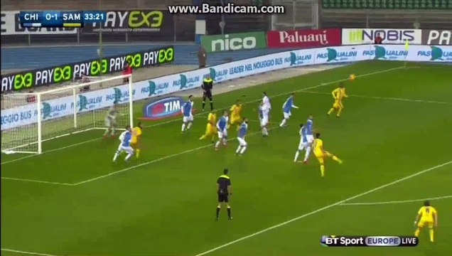Roberto Inglese Amaizing Goal - Chievo 1 - 1 Sampdoria - 02-11-2015