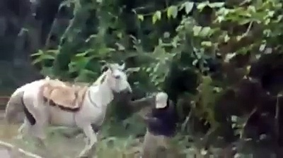 This Drunken Man Try All The Way To Get on The Horse But See Youself What Happened with Him | Funny Horse Riding