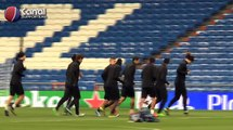 L'entrainement du PSG à Bernabeu avant Real Madrid / PSG en UEFA Champions League