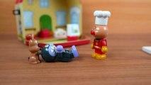 アンパンマンおもちゃアニメ パン工場でパン作り Stop motion