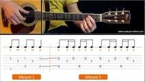 Cours de guitare Blackbird - The Beatles I Apprendre la guitare pour débutant. Tuto + Tab