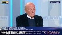 19H Ruth Elkrief : pour Jacques Séguéla le passage de Hollande chez Lucette est de la télé réalité