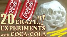 20 CRAZY EXPERIMENTS with COKE !! Cool science experiments you must watch! -Curiosity