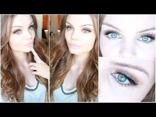 Bright Smokey eyes & Nude Lips - Make up Tutorial ♥