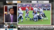 ESPN First Take - Panthers vs. Colts : Andrew Luck Has Fractured Ribs