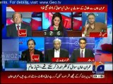 Sahafi ko do thappar lagne chahiye ,, aapko thapar lagna chahiye - Clash between Hasan Nisar & Imtiaz Alam in a live show