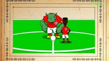 ⚽️ESTONIA vs ENGLAND 0 1⚽️ 12.10.14 (Rooney freekick, cartoon, Euro 2016, goals, highlight