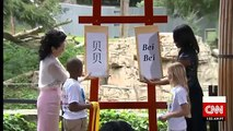 US and China first ladies name US panda cub Bei Bei   National Zoos giant panda cub named