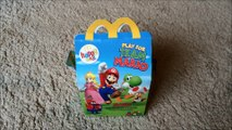 Mario bross toys Happy meal Mac Donalds surprise | Disnay cars professor Z | kids videos	mario speelgoed	mario toys 	mario kids videos
