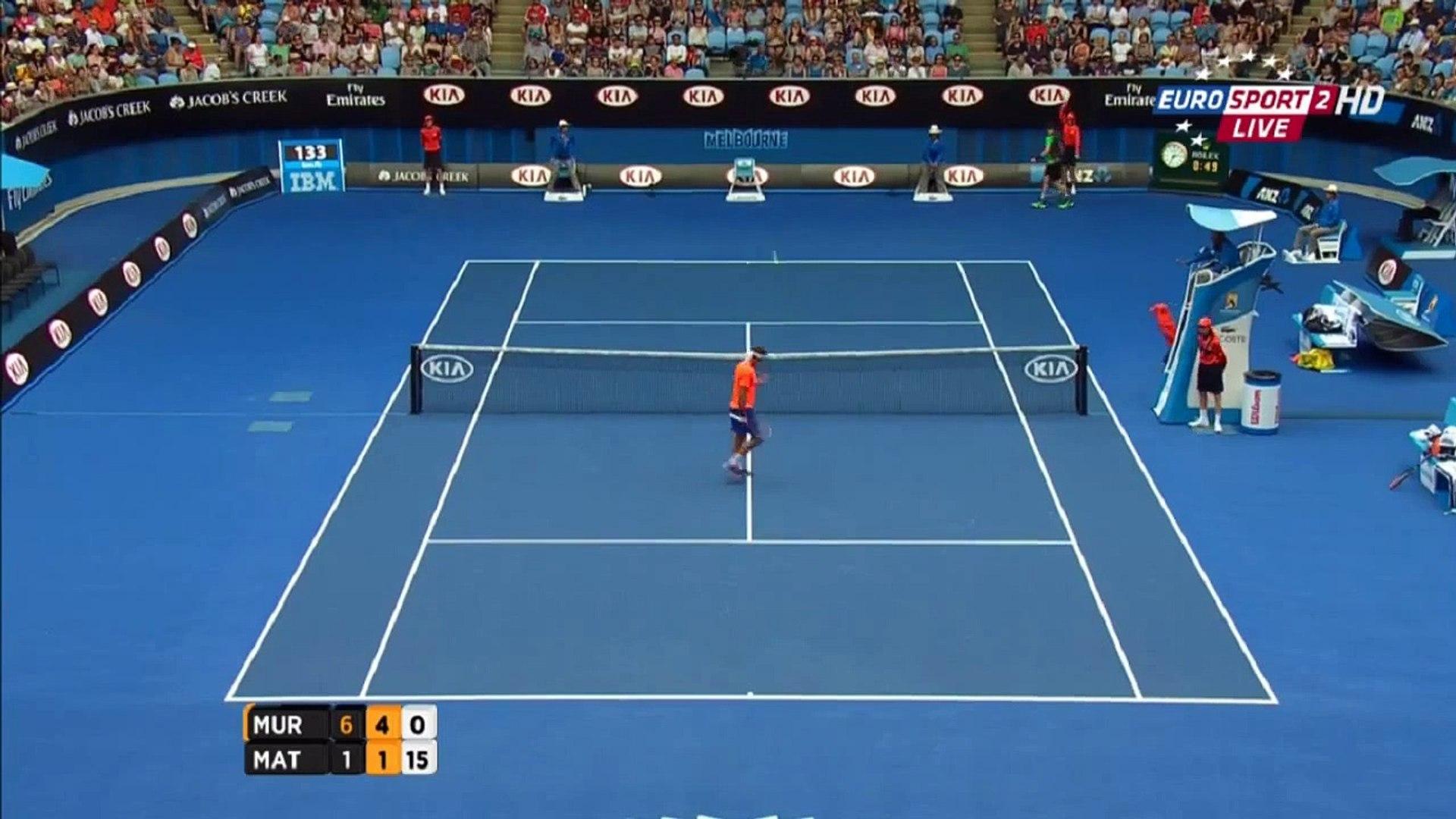 Andy Murray vs Marinko Matosevic Australian Open 2015 2nd Round Highlights HD