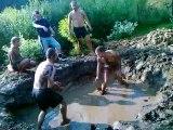 Mud wrestling׃ Tõnis vs Roomet Wrestling ¦ male Wrestling 96