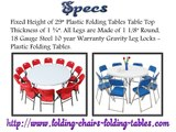 "45"" Round Plastic Folding Table - Folding Chairs Tables Larry"