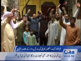 Residents of Sheranwala Gate protest against WASA