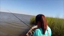 Windy Day Redfish   Kayak Fishing Moses Lake