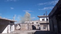 Syrian Air Force with the support of the Russian Air Force strikes against militants in Sy