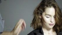 Le making of du shooting Rose des Vents de Dior Joaillerie avec Emilia Clarke