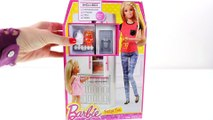 Barbie's Shopkins Fridge Fun Barbie Doll Kitchen with Shopkins Fruits & Vegetables