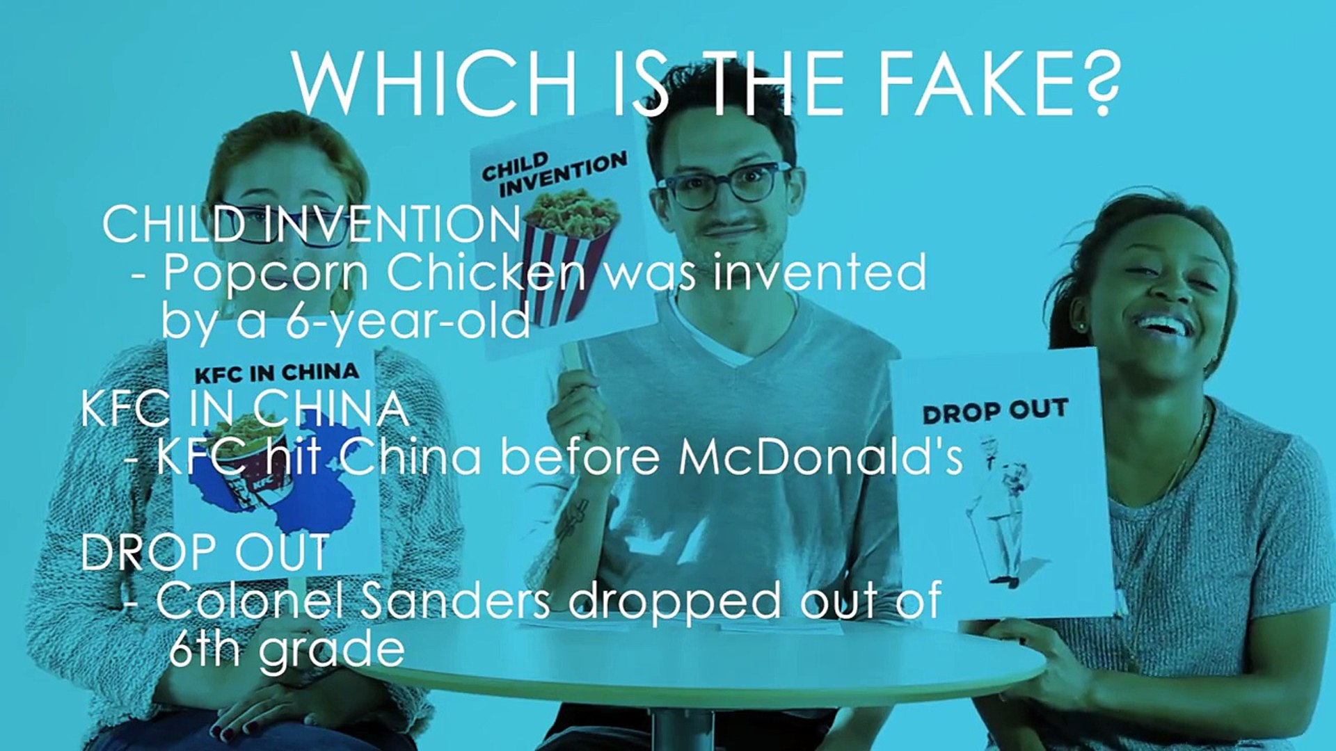 2 Facts & A Fake: Fast Food Facts
