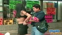 SEXY Woman STRIPPING In Public Prank