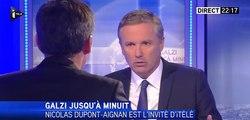 Nicolas Dupont-Aignan invité d'Olivier Galzi sur I Télé
