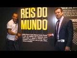 Cafu é recebido por Dunga e visita o Museu Seleção Brasileira