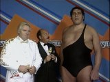 WWF Wrestlemania III - Andre The Giant Interview