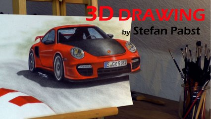 3d drawing pabst painting how to porsche racing red