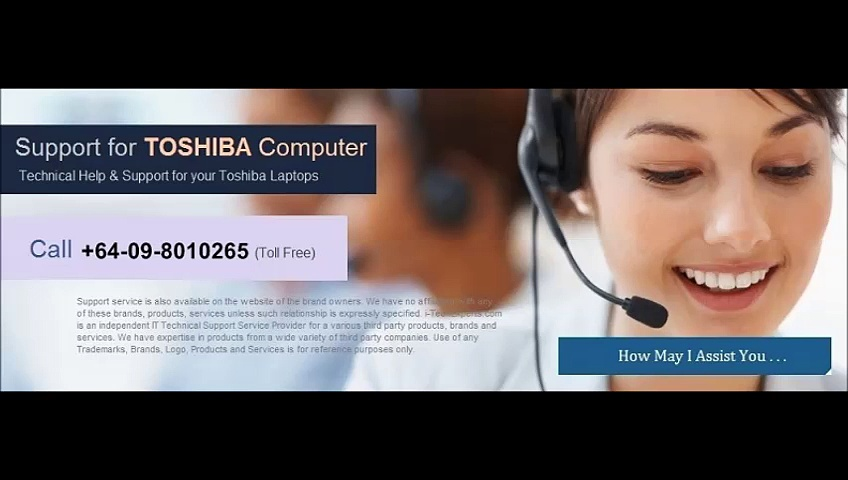 Toshiba Tech Support NZ Number +64-09-8010265