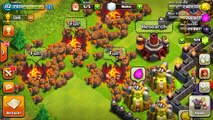 CLASH OF CLANS ALL WALL BREAKERS! 3 STARRING A VILLAGE! WTF! FUNNY MOMENTS+MAX TROOPS VS M