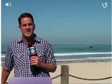 Bug scares reporter on live TV weather forecast, FOX5 anchor Brad Wills freaks out for big