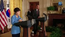 President Obama Holds a Press Conference with President Park of South Korea