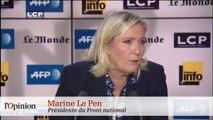 Marion Le Pen félicite Chauprade, Marine Le Pen le recadre