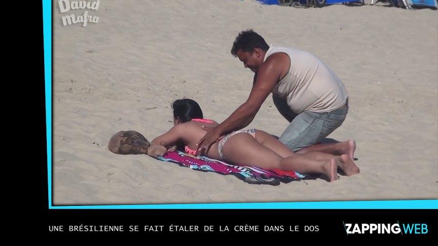 Une brésilienne au corps surprenant se fait étaler de la crème dans le dos (vidéo)