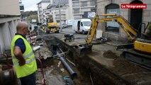 Lannion. Gros chantier d'assainissement en centre-ville