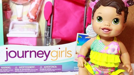 BABY ALIVE Doll Videos Swimming Beach Clothes Journey Girl Epic Summer Set BABY DOLL Plays