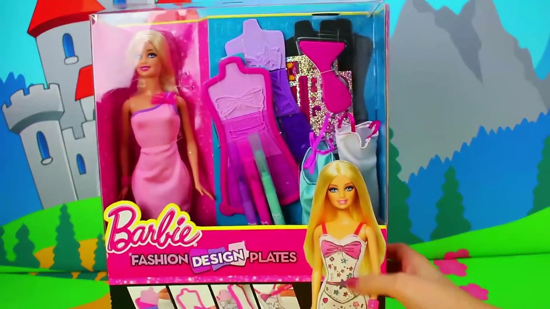 Disneytoysfan Barbie Fashion Design Plates Dress Play Set Toy Review Dailymotion Video
