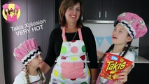SPICY VERY HOT TAKIS XPLOSION chips taste test with our Grandma! Chilli pepper and cheese