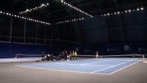 Le BNP Paribas Masters dans l'oeil des joueurs - Les courts d'entraînement